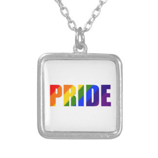 colar chapeada prata do orgulho do arco-íris