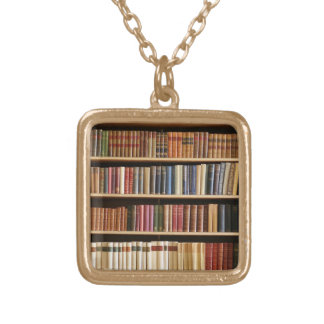 colar clássica do ouro da biblioteca