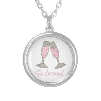 Colar cor-de-rosa da festa de casamento de
