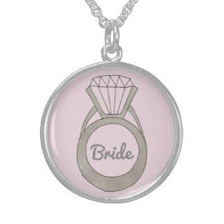 Colar cor-de-rosa do presente de casamento da