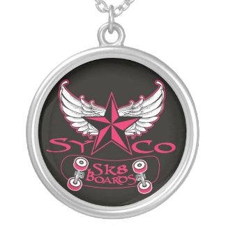 colar cor-de-rosa do syco sk8