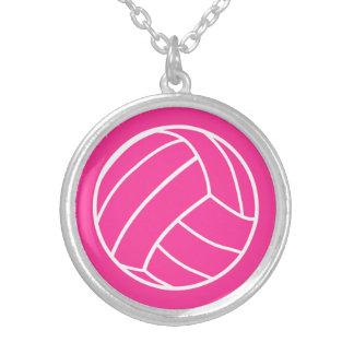 Colar cor-de-rosa do voleibol