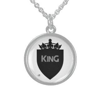 Colar coroada da prata esterlina do rei Coleção