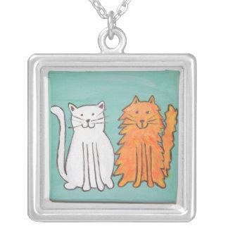 Colar da arte dos gatos dos melhores amigos