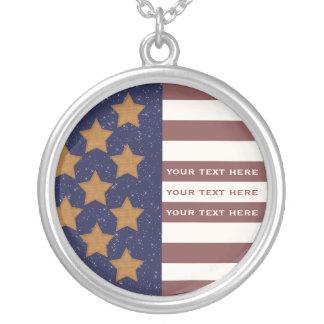 Colar da bandeira americana