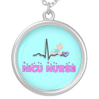 Colar da enfermeira de NICU, prata esterlina