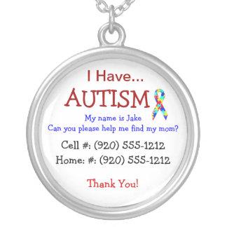 Colar da identificação da criança do autismo (inte