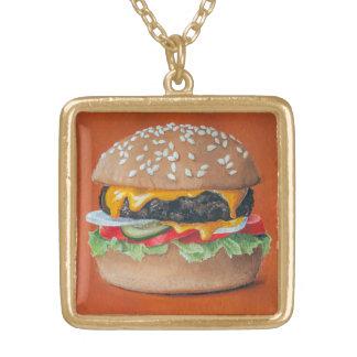 Colar da ilustração do Hamburger