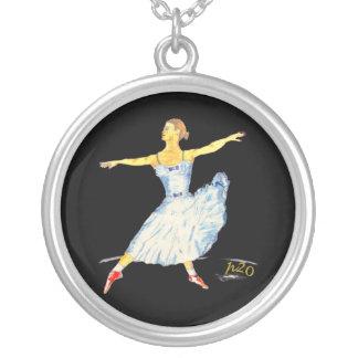 Colar da prata da dança do balé