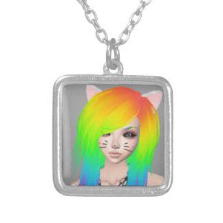 Colar da rainha da cena do arco-íris