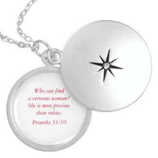 Colar de prata dos provérbio 31 virtuosos da