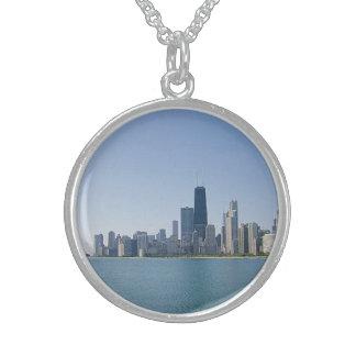 Colar De Prata Esterlina A skyline de Chicago