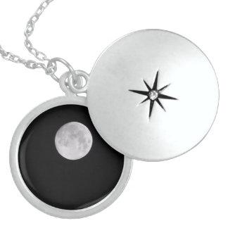 Colar De Prata Esterlina Ame-o à lua e à parte traseira