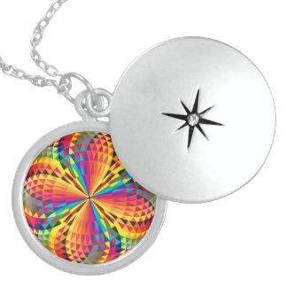 Colar De Prata Esterlina cor completa do botão do arabesque