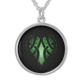 Colar De Prata Esterlina Design celta do tatuagem do coração