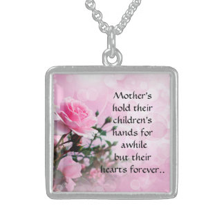 Colar De Prata Esterlina Dia das mães