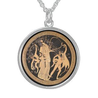 Colar De Prata Esterlina Dionysus e os Satyrs