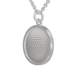 Colar De Prata Esterlina Esporte da bola de golfe