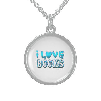 Colar De Prata Esterlina Eu amo livros