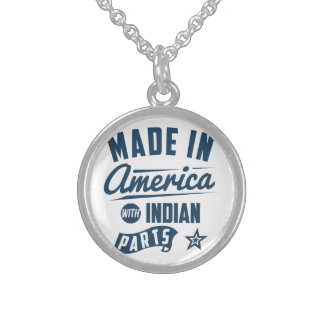 Colar De Prata Esterlina Feito em América com peças indianas