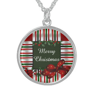 Colar De Prata Esterlina Feliz Natal personalizado