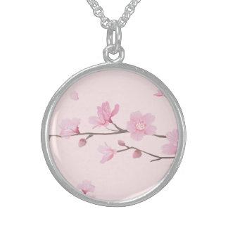Colar De Prata Esterlina Flor de cerejeira - rosa