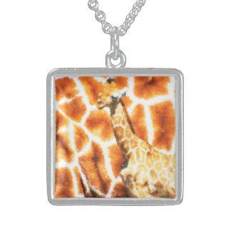 Colar De Prata Esterlina Girafa do bebê