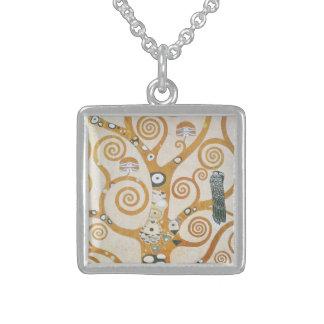 Colar De Prata Esterlina Gustavo Klimt a árvore da arte Nouveau da vida