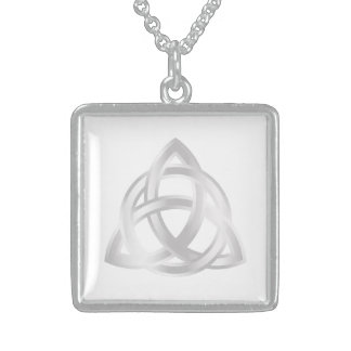 Colar De Prata Esterlina Ícone original da prata do nó de Triquetra do