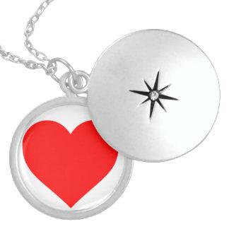 Colar De Prata Esterlina Locket de prata do coração
