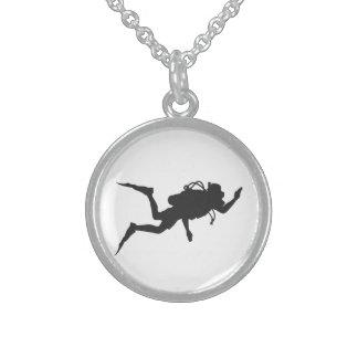 Colar De Prata Esterlina Mergulhador de mergulhador