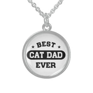 Colar De Prata Esterlina O melhor pai do gato nunca