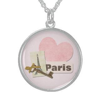 Colar De Prata Esterlina Paris