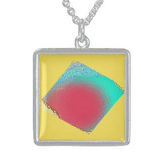 Colar De Prata Esterlina Pendente de vidro do efeito