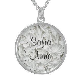 Colar De Prata Esterlina Pendente floral conhecido da prata 2 esterlina
