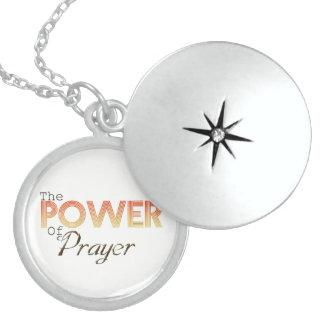 Colar De Prata Esterlina Poder da oração