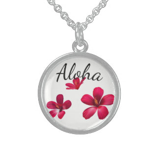 Colar De Prata Esterlina Prata esterlina Colar-Havaiana Aloha