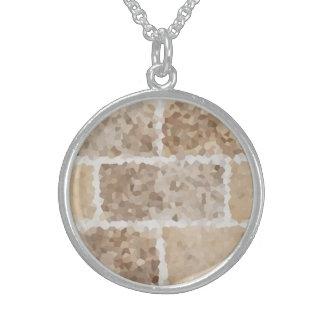 Colar De Prata Esterlina Tan geométrico