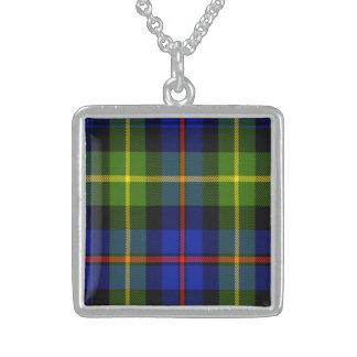 Colar De Prata Esterlina Tartan do Scottish de Farquharson