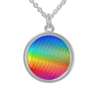 Colar De Prata Esterlina Viga do arco-íris