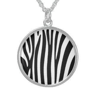 Colar De Prata Esterlina Zebra