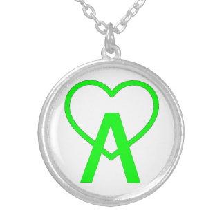 Colar de prata verde elétrica de A~Heart