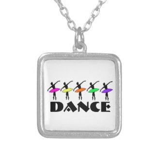 Colar do balé da dança do dançarino da silhueta da