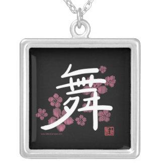 Colar do Kanji da dança (preto)