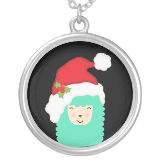 Colar do lama de Emoji do Feliz Natal