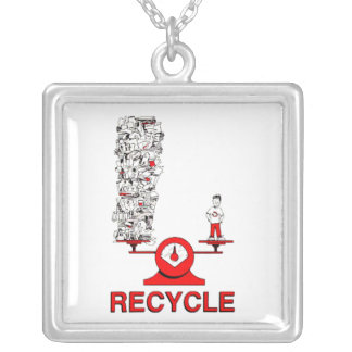 Colar do lixo do reciclar