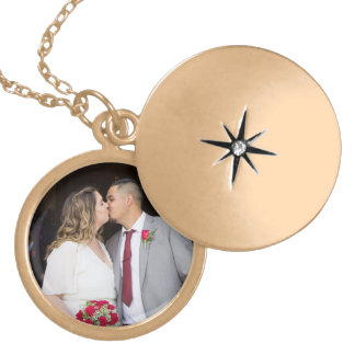 Colar do Locket do casamento de Allison & de Edgar