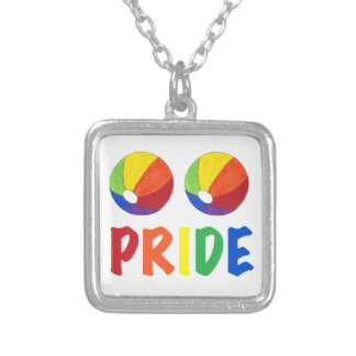 Colar do orgulho gay da bola de praia LGBT do