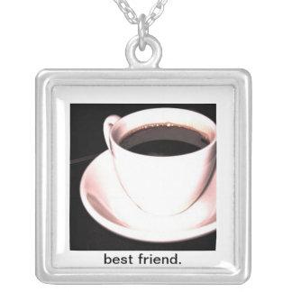 Colar do quadrado do copo de café do melhor amigo