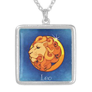 Colar do quadrado do zodíaco de Leo